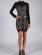 Sukienka czarna koronka S M L...