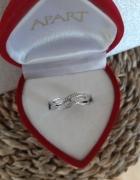 APART białe złoto diamenty pierścionek rozmiar 11...
