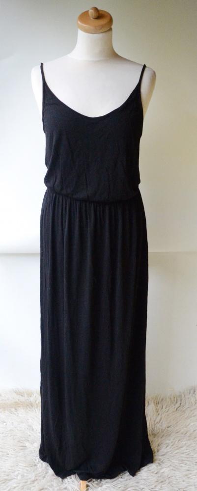 Sukienka Długa Long Maxi Czarna L 40 H&M Divided