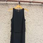 Elegancka czarna bluzka z rozcięciem z boku M