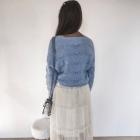 Kremowa spódnica tiul midi