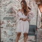 Sukienka tiulowa gołe plecy xs s m l xl