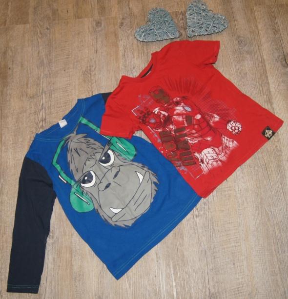 Bluzki Zestaw chłopiec koszulka bluzka Ironman rozm 110 do 116