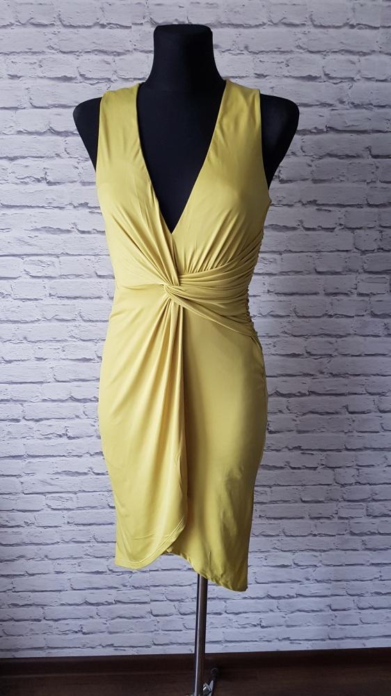 Limonkowa sukienka Asos 36