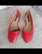 Zara nowe czerwone baleriny balerinki 39...