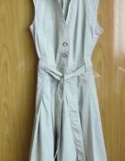 Zara Basic suknia sukienka beż M...
