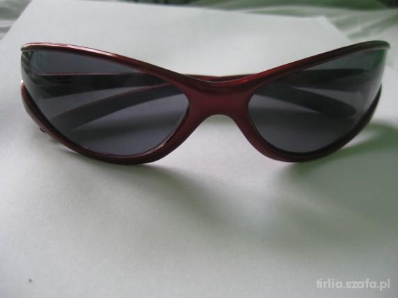 Nowe czerwone kocie okulary matrix
