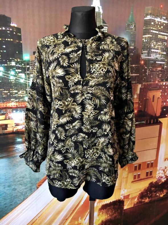 zara bluzka khaki kwiaty hawajska koronka hit blog 34