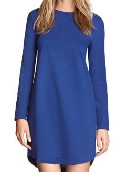 niebieska sukienka h&m