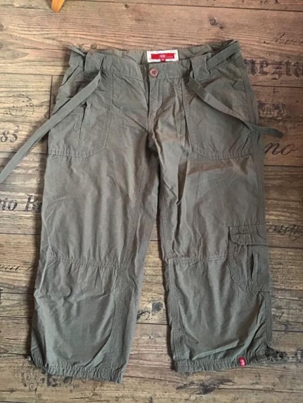 Esprit Rybaczki Khaki 36 38 S M spodnie spodenki szorty