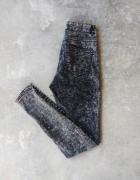 Spodnie jeansy dżinsy marmurowe szare rurki bardzo wysoki stan...