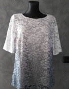 Koronkowa bluzka ombre z mieniącymi się drobinkami 44 46...