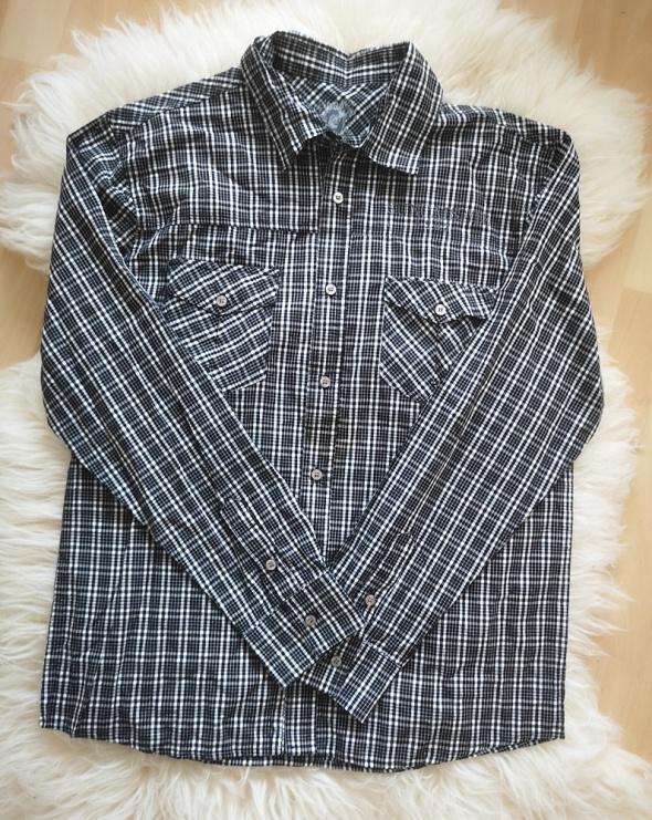 Koszula męska w krate z długim rękawem XXL