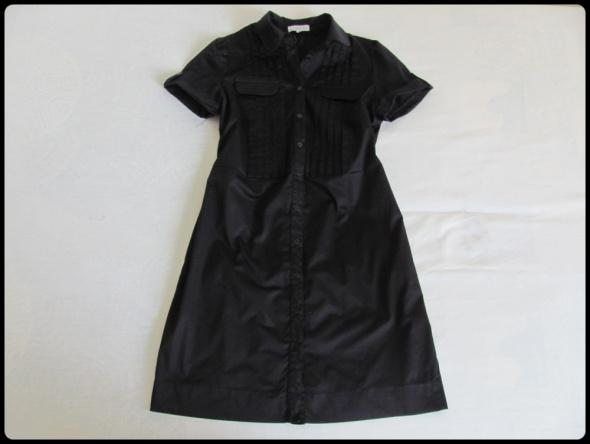 ZENDRA Mała czarna sukienka szmizjerka stan idealny 40 L