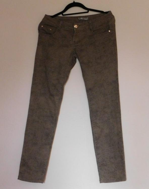 Miss One spodnie jeans brąz 38 40