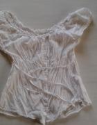 H&M Biała bluzka HISZPANKA odkryte ramiona 40L...