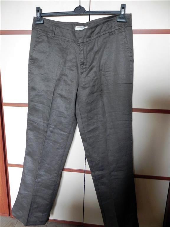 świetnie spodnie Reserved 44 beżowobrązowe...
