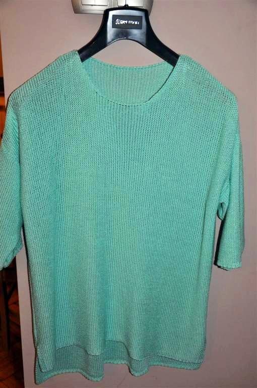 świetny sweter w kolorze miętowym 46 Papaya