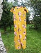 Żółty Kombinezon w Kwiaty New Look...