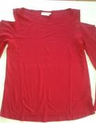 bluzka czerwona wycięte ramiona 40 L...