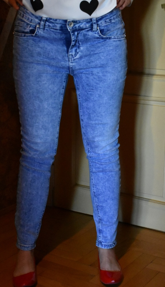 Rurki jeansowe New Look 40 L acid wash marmurkowe