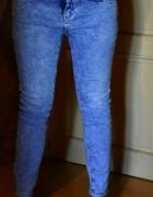 Rurki jeansowe New Look 40 L acid wash marmurkowe...