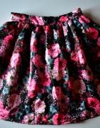 Rozkloszowana spódnica w róże kwiaty floral piękna M 38...