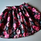 Rozkloszowana spódnica w róże kwiaty floral piękna M 38