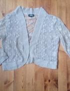 Narzutka sweterek z koronką L XL...