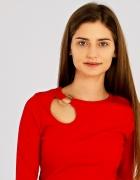 sexy czerwona bluzka ozdoba wycięcie kółko uni dziura...