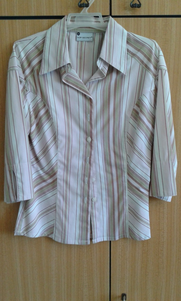 Koszula z kołnierzykiem Top Secret XS w paski