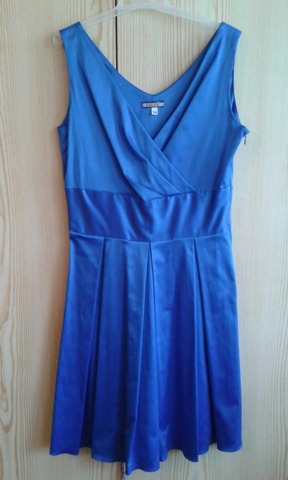 Niebieska sukienka XS kobalt