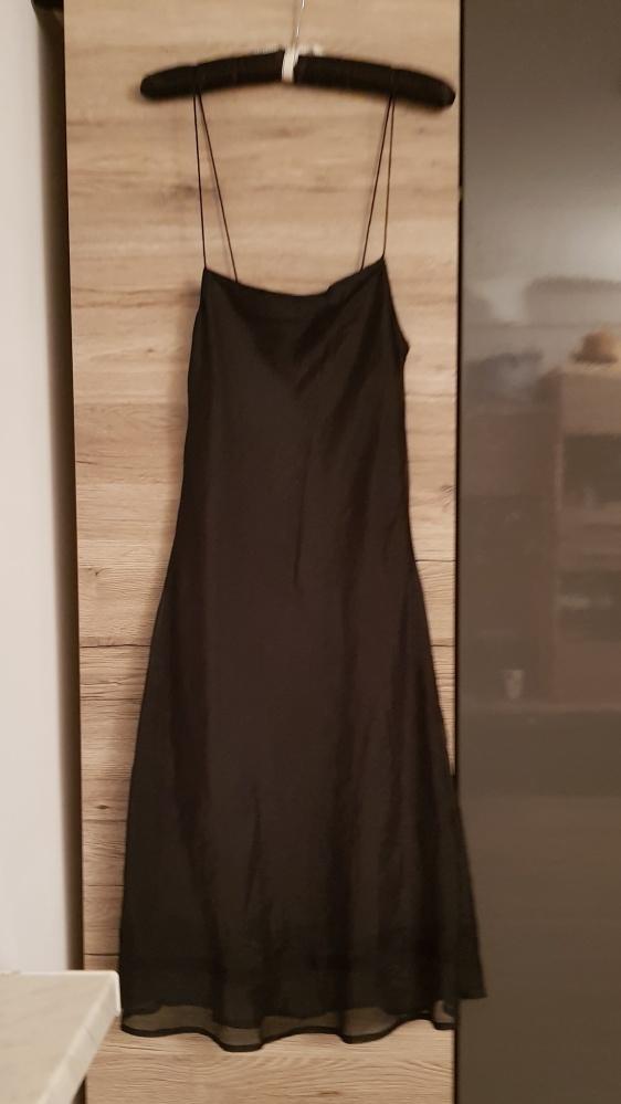 Sukienka Noa Noa r M L mała czarna ramiączka spaghetti trendy