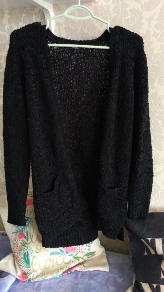 Swetry Czarny kardigan z kieszeniami