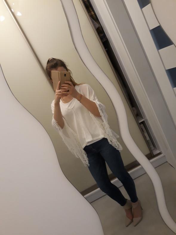 Ponczo białe H&M