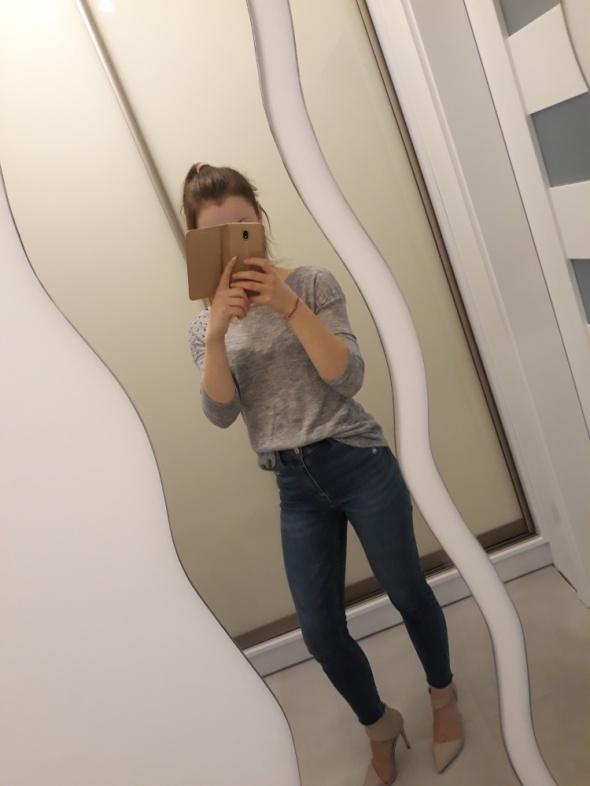Bluzka sweterkowa szara marki sinsay