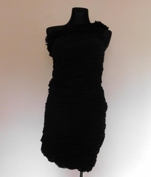 Calvin Klein czarna sukienka jedwab 38 40...
