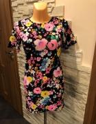 Sukienka Missguided flowers kwiaty S Zara Lou...