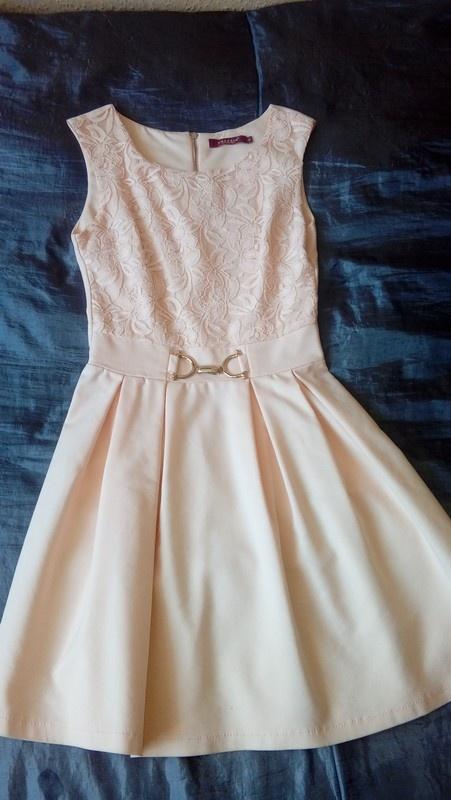 Suknie i sukienki Brzoskwiniowa sukienka