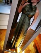 złota długa sukienka...