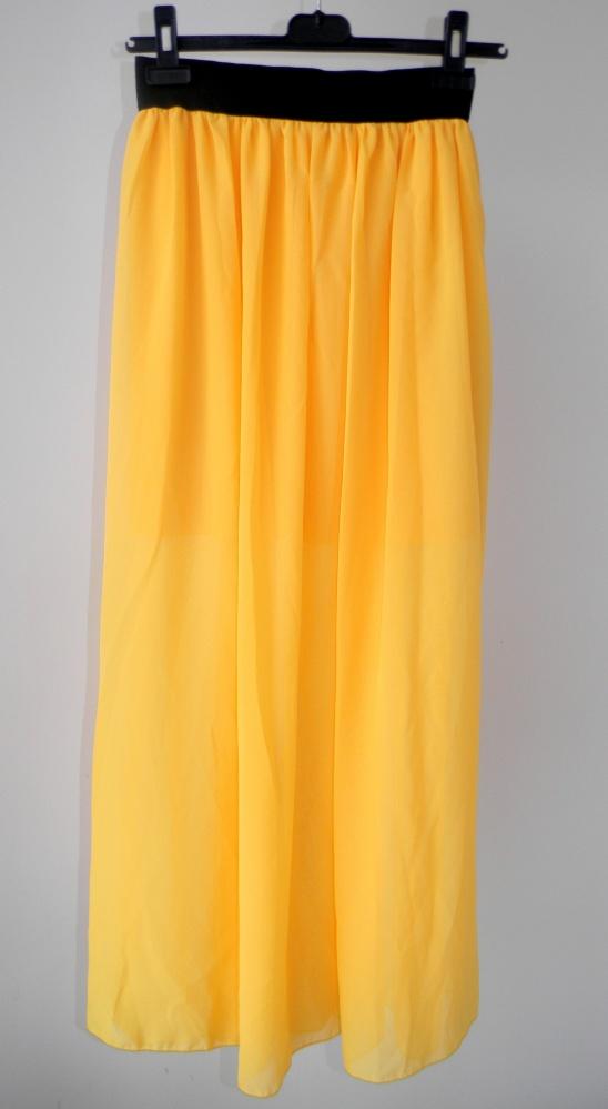 Spódnica maxi żółta