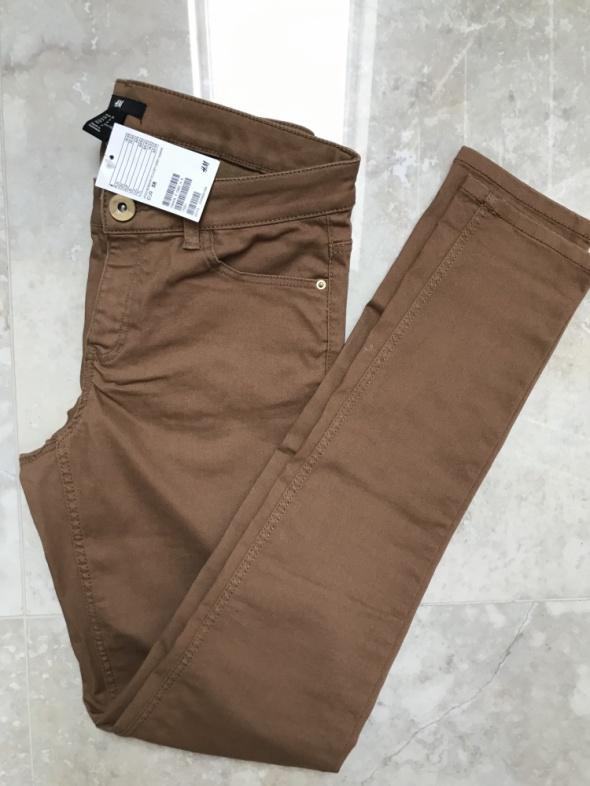 Spodnie H&M camel rozmiar 38