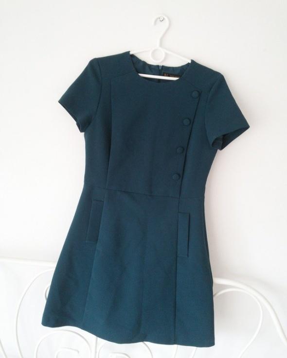 Sukienka zara butelkowa zieleń