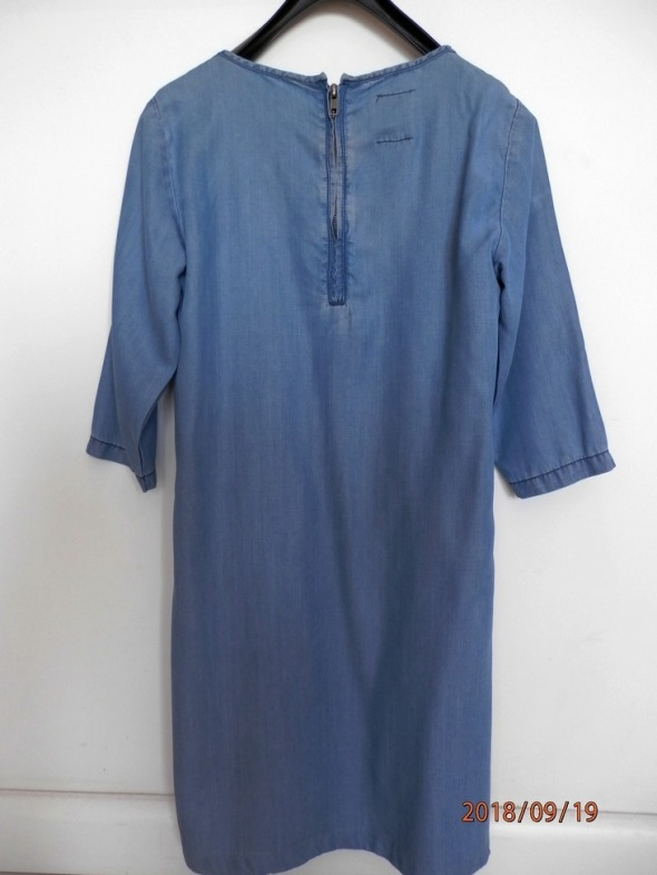 Sukienka Jeansowa Dżinsowa Trapezowa Minimalistyczny Fason Asos S