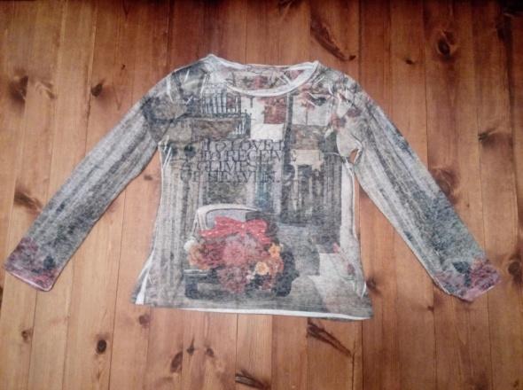 Kolorowa drukowana bluzka L