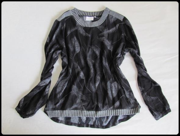 KAFFE czarna bluzka w pióra rozmiar 38 oraz 40