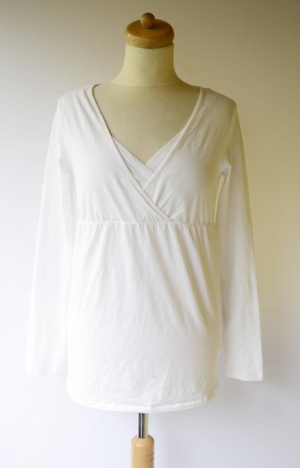 Bluzka Biała Colline M L 38 40 Do Karmienia Ciąża Długi Rękaw