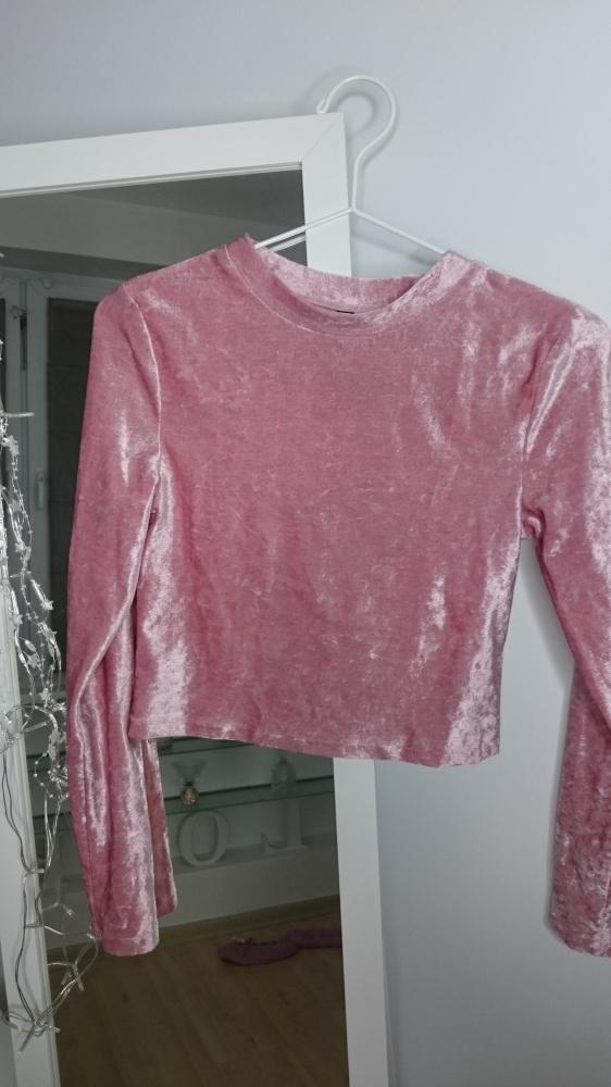 Welurowy top H&M róż