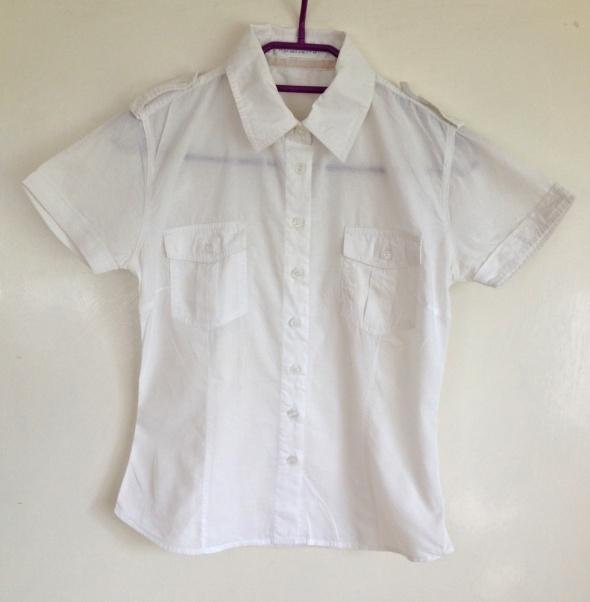 Top Secret M koszula biała z krótkim rękawem używana kieszonki ...