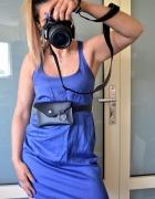 Bershka letnia kobaltowa sukienka S...